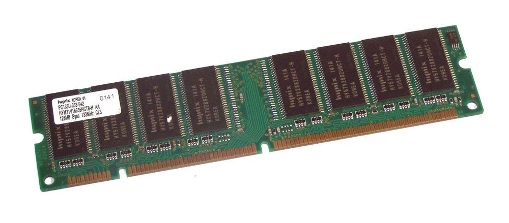 Hynix HYM71V16635HCT8-H AA (128MB SDRAM PC133U 133MHz DIMM 168-pin) Memory