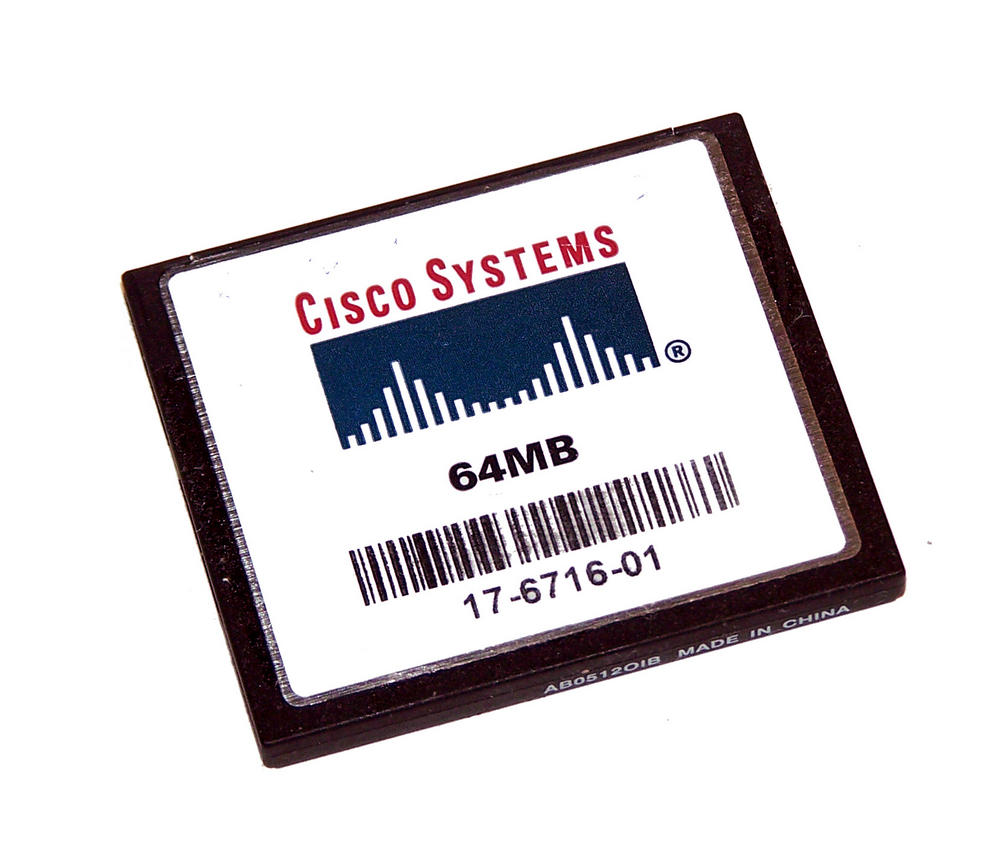 Cisco 17-6716-01 64MB Compact Flash CF Card | 2811 2851 Routers
