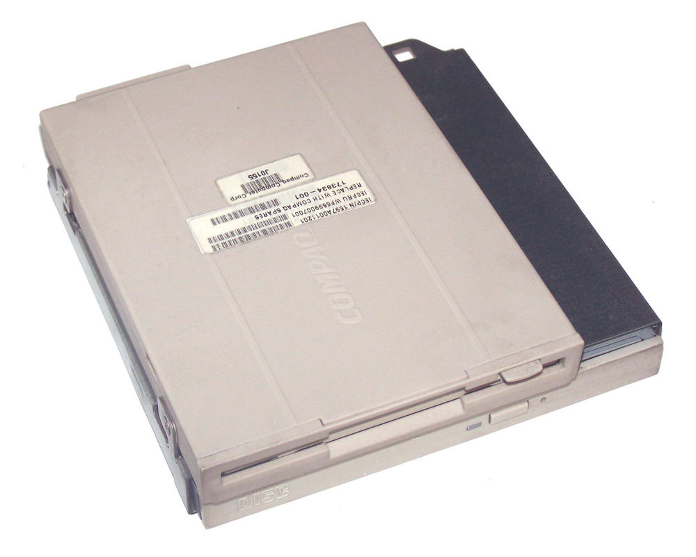 Compaq 173834-001 ProLiant DL360 G1 24X CD-ROM and 1.44Mb FDD Drive Assembly
