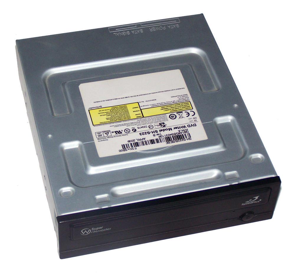 TSST SH-S223B/BEBE SH-S223 Half Height SATA DVD Recorder Drive | Black Bezel