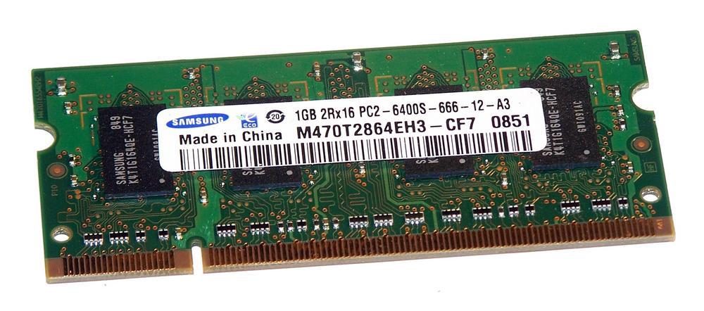 Samsung M470T2864EH3-CF7 (1GB DDR2 PC2-6400S 800MHz SO DIMM 200-pin) RAM Module