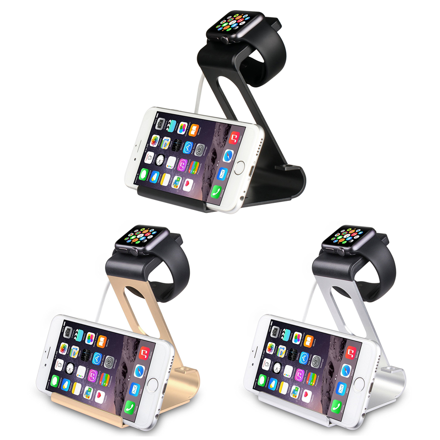 best sneakers be236 0d594 Details about Aluminium Charging Dock Station Stand Apple Watch & iPhones  6/6S/6Plus/6S Plus