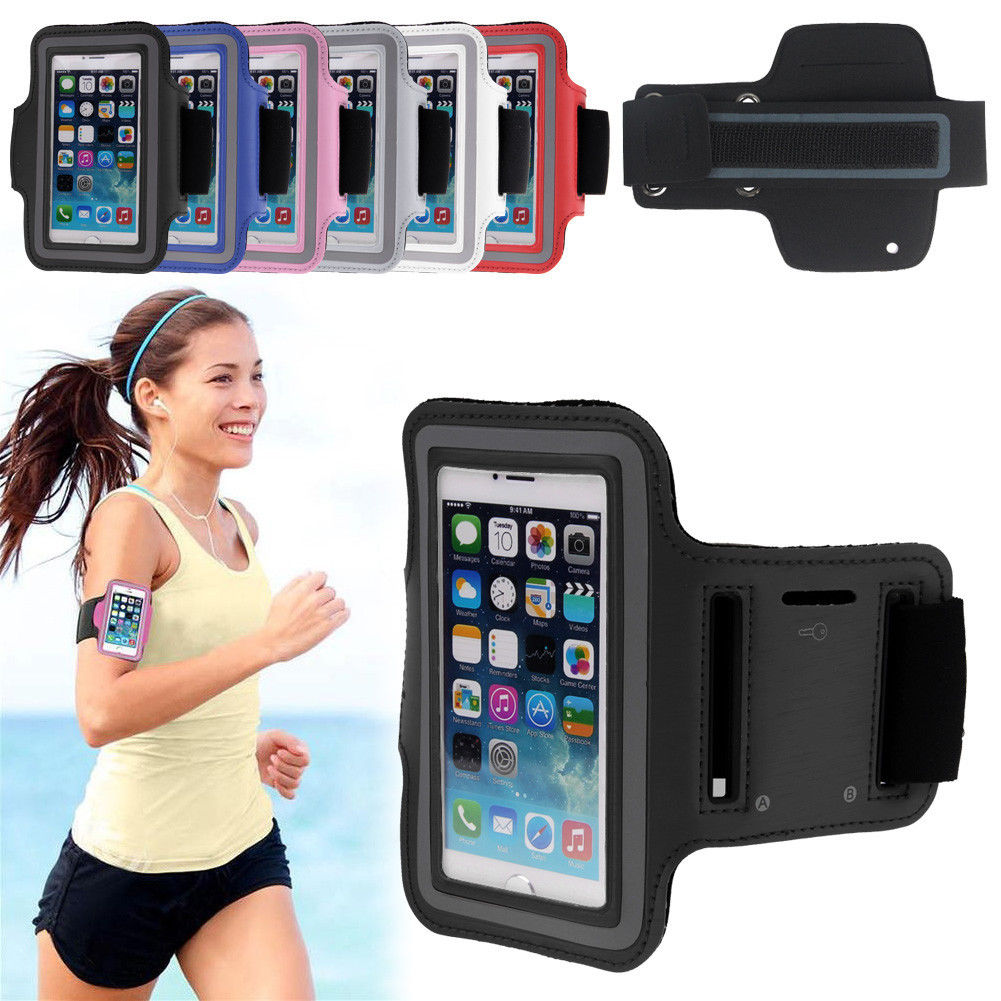 best service 55917 8eaac Details about Sports Armband Case Holder for iPhone 7 Plus Gym Running  Jogging Arm Band Strap
