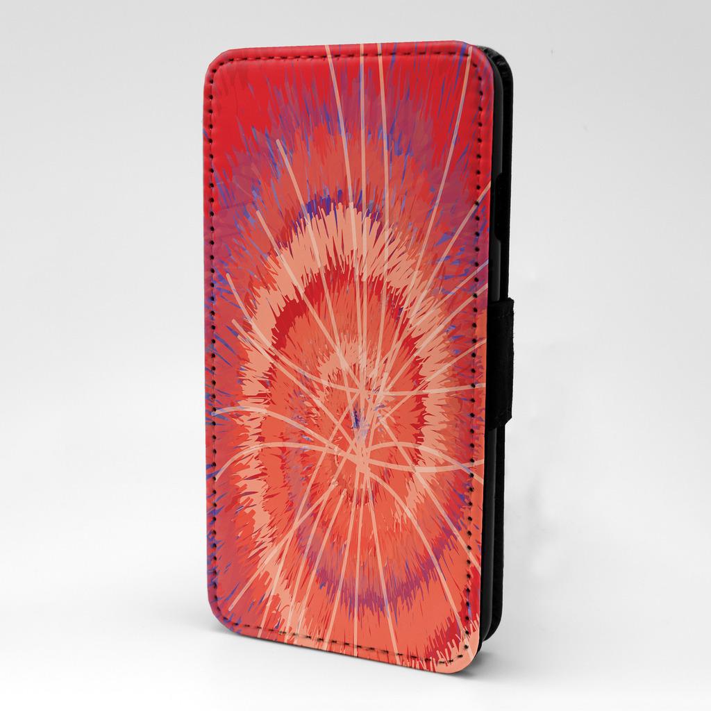 Rojo-Espiral-Diseno-Estampado-Funda-libro-para-Samsung-P150