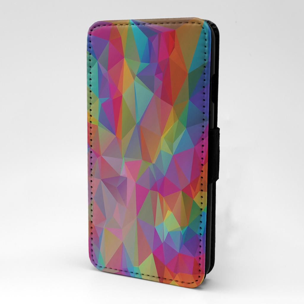 poligonal-diseno-estampado-Funda-libro-para-Apple-iPhone-P556