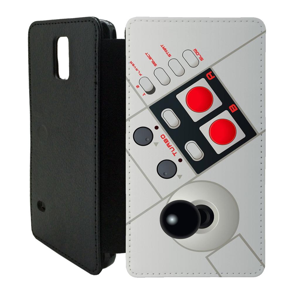 vintage retro gaming flip wallet cover case for samsung galaxy ebay. Black Bedroom Furniture Sets. Home Design Ideas