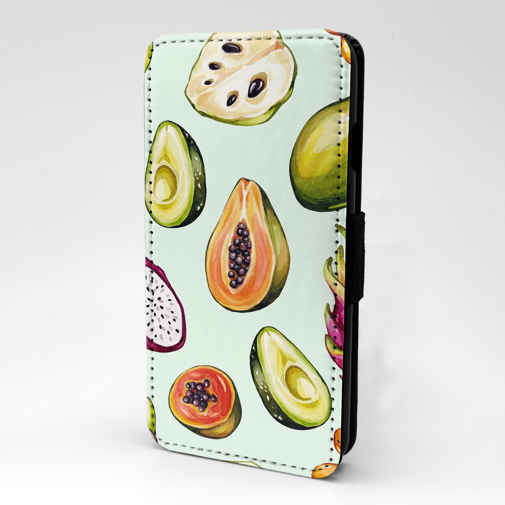 Everything-Fruits-Tropicaux-Legumes-Etui-Rabattable-Pour-Telephone-Portable-S732