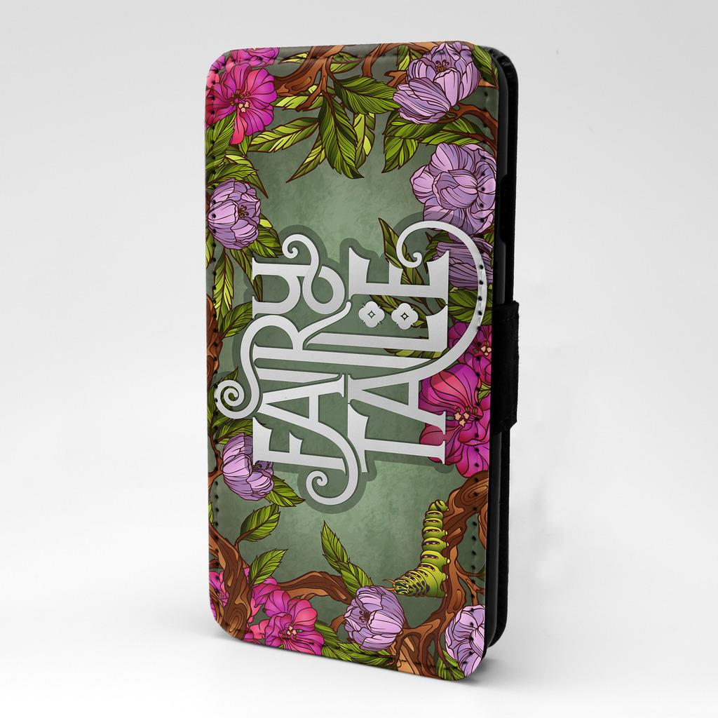 Fantasia-Cuento-De-Hadas-Flores-Expresiones-Funda-libro-para-telefono-movil