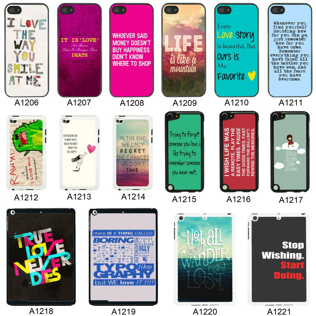 Cell Phone Quotes Sayings Quotes Cover Case For Apple Iphone Ipod And Ipad  A7  Ebay