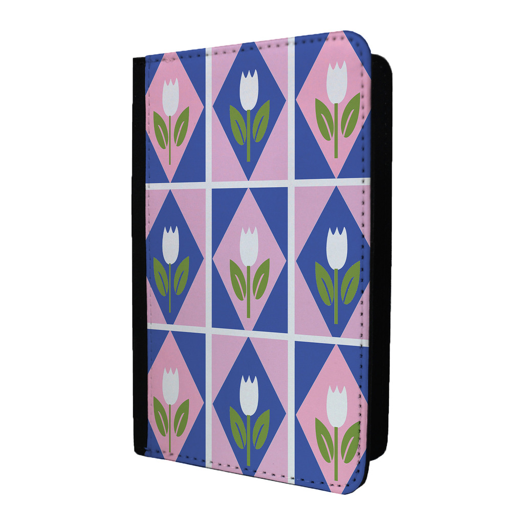 Tulipanes-diseno-estampado-Etiqueta-de-Equipaje-amp-Funda-pasaporte-p647