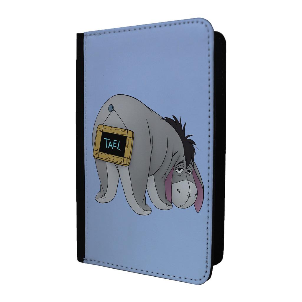 Winnie-the-Pooh-Lindo-Eeyore-Etiqueta-de-Equipaje-amp-O-Passport-Soporte-G1318