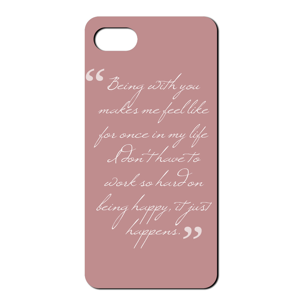 Phone Quotes Sayings Quotes You Make Me Happy Tpu Back Case Cover For Mobile