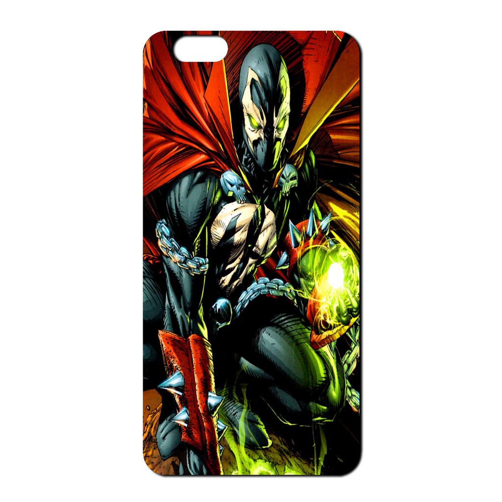 SPAWN-y-Deadpool-Resurrection-Sintetico-Funda-Parte-Trasera-para-telefono-movil