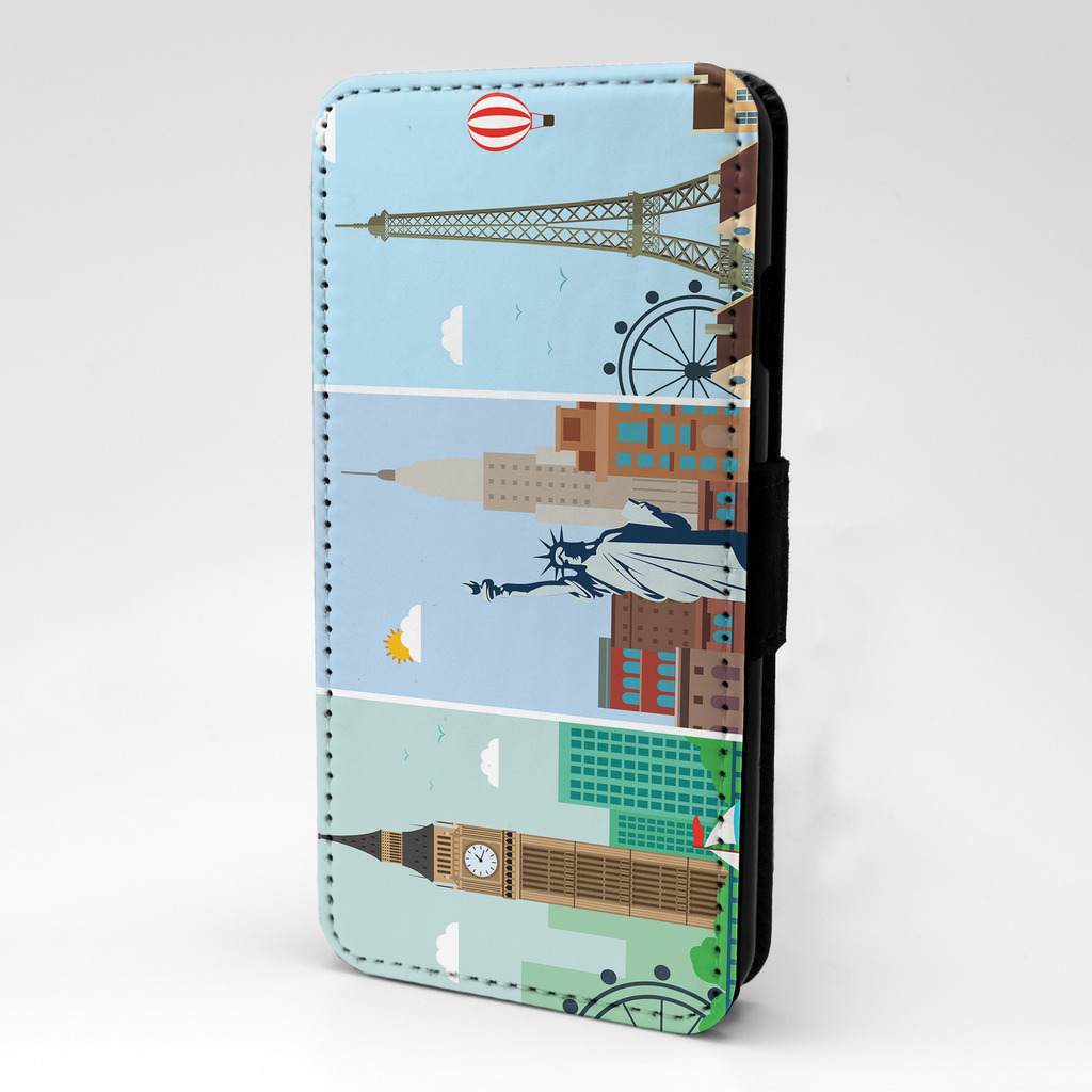 Londres-Nueva-York-Paris-Funda-libro-para-telefono-movil-S283