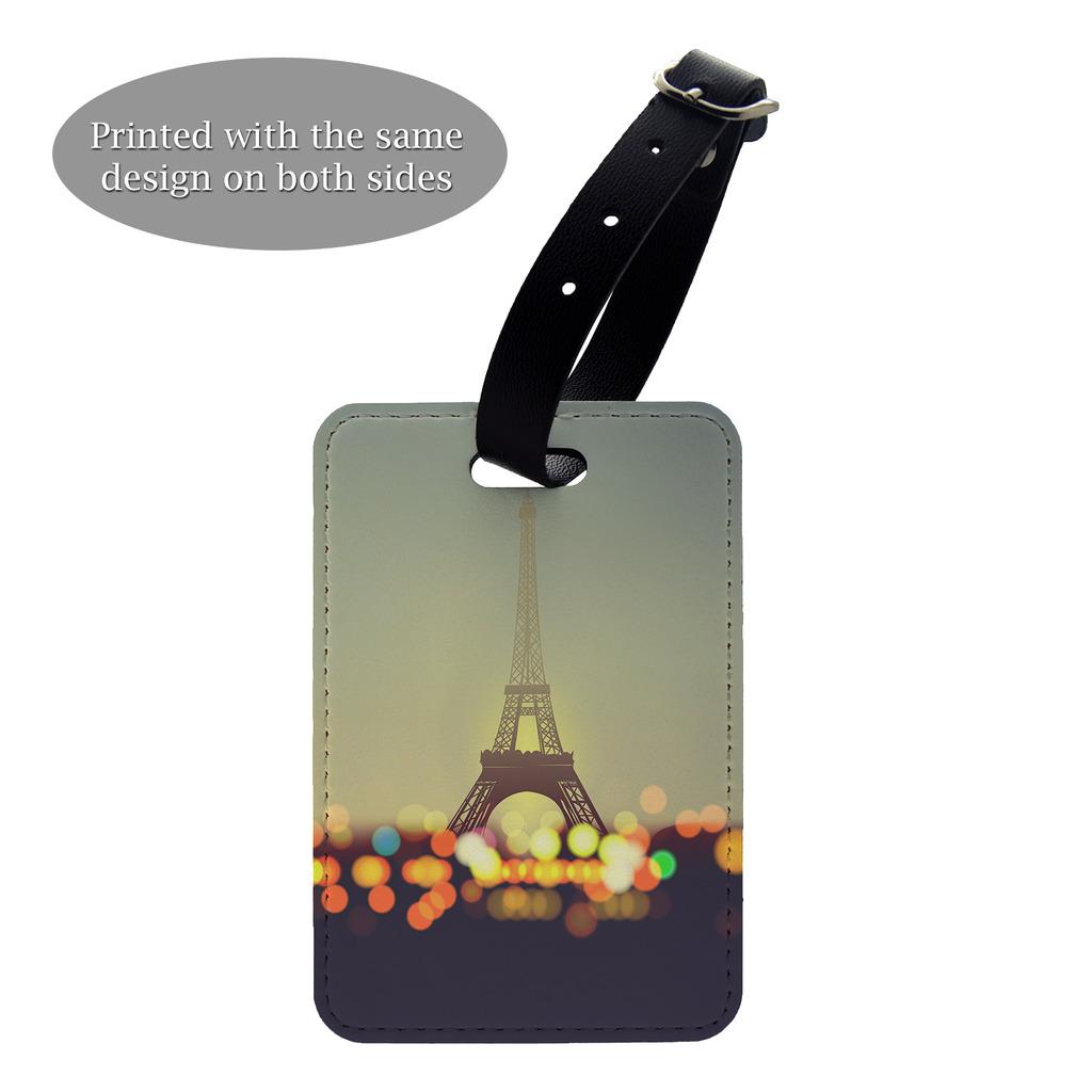 Pariser Eiffelturm Lichter Gepäck Koffer Gepäck Etikette - S1077   eBay
