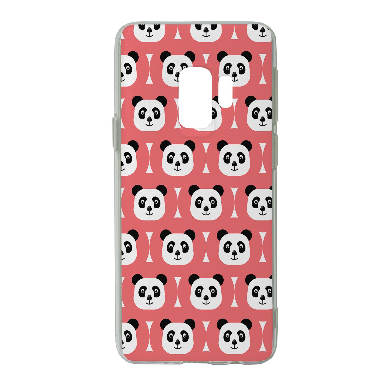 oso-panda-estampado-Sintetico-Funda-Parte-Trasera-para-telefono-movil-S6997