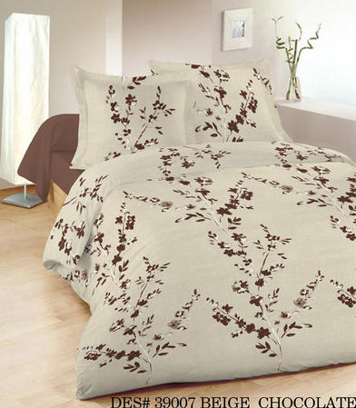 King Henly Floral Duvet Set in Beige/Brown