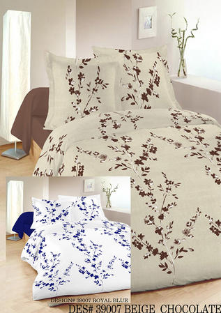 Single Henley Floral Duvet Set in White and Blue Thumbnail 2