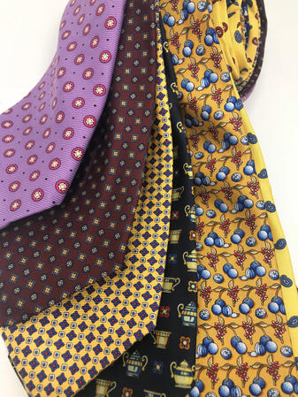 Cavenagh of London 7Piece 100% Pure Silk Ties Made in UK (622D)RRP£139.99 Thumbnail 2
