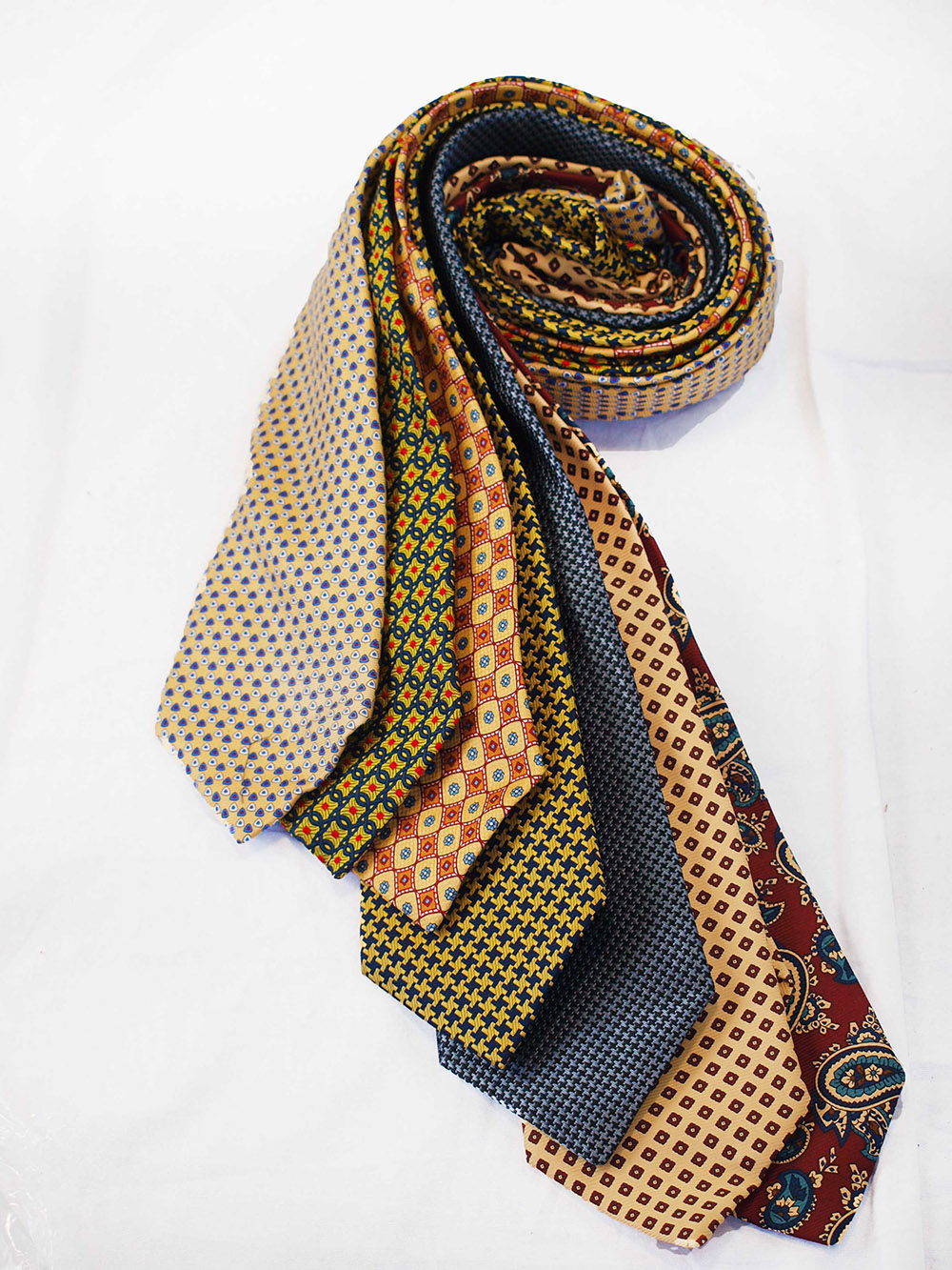 Cavenagh of London 7Piece 100% Pure Silk Ties Made in UK (220D)RRP£139.99
