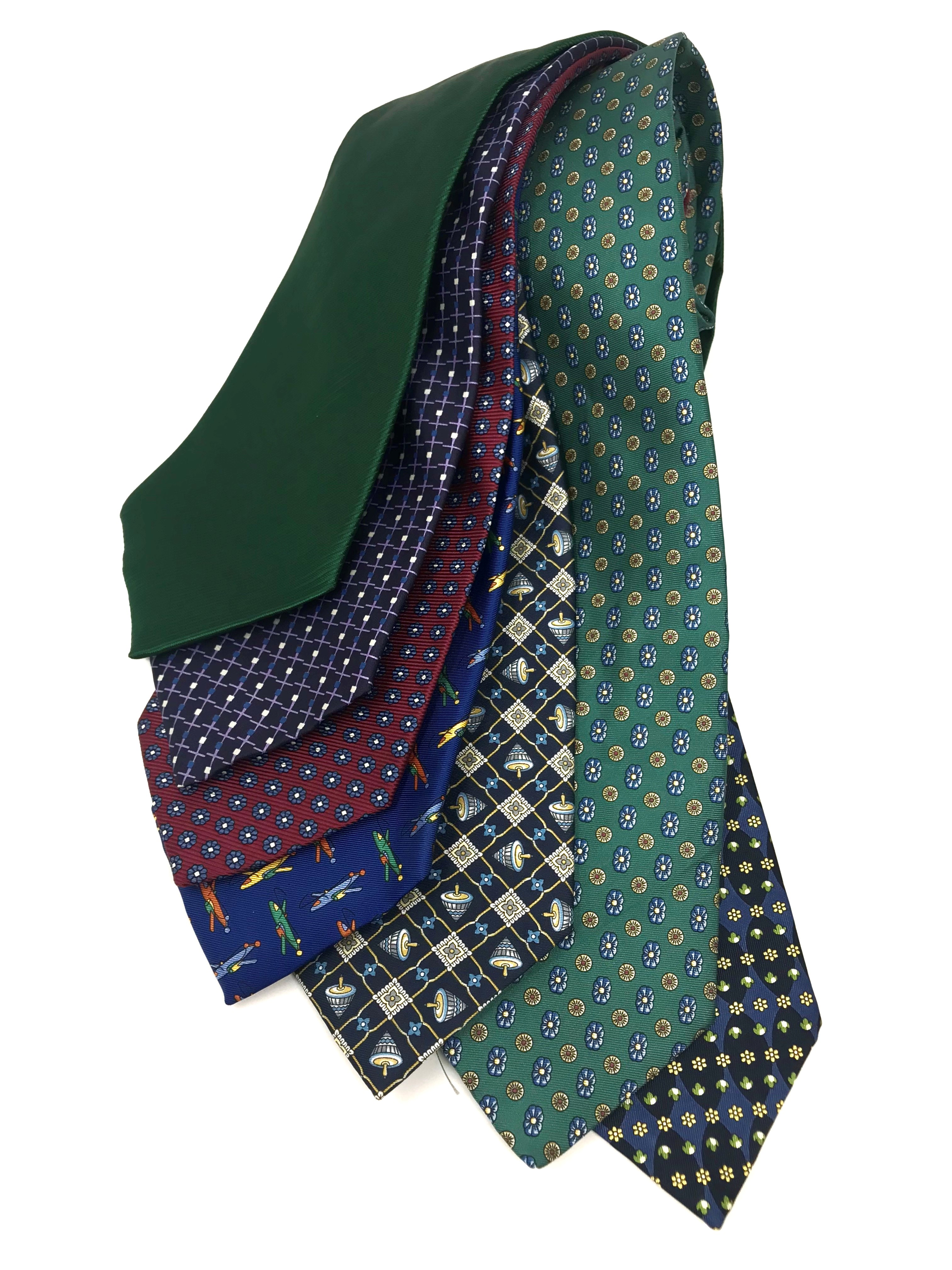 Cavenagh of London 7Piece 100% Pure Silk Ties Made in UK (709D)RRP£139.99