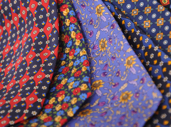 Cavenagh of London 7Piece 100% Pure Silk Ties Made in UK (426D)RRP£139.99 Thumbnail 3