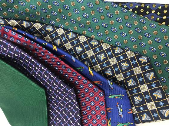 Cavenagh of London 7Piece 100% Pure Silk Ties Made in UK (709D)RRP£139.99 Thumbnail 2