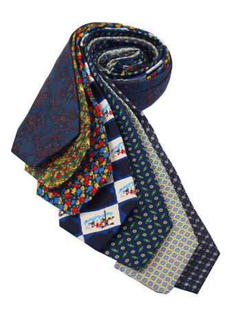 Cavenagh of London 7Piece 100% Pure Silk Ties Made in UK (238D)RRP£139.99 Thumbnail 1