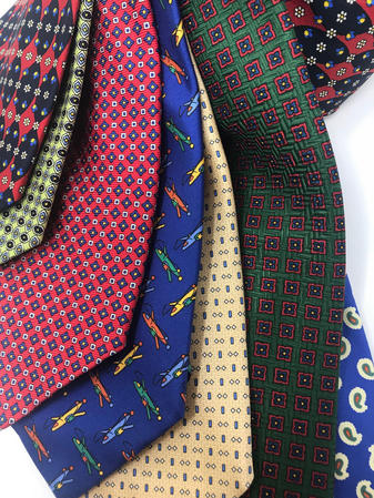 Cavenagh of London 7Piece 100% Pure Silk Ties Bundle Made in UK (704D) Thumbnail 2