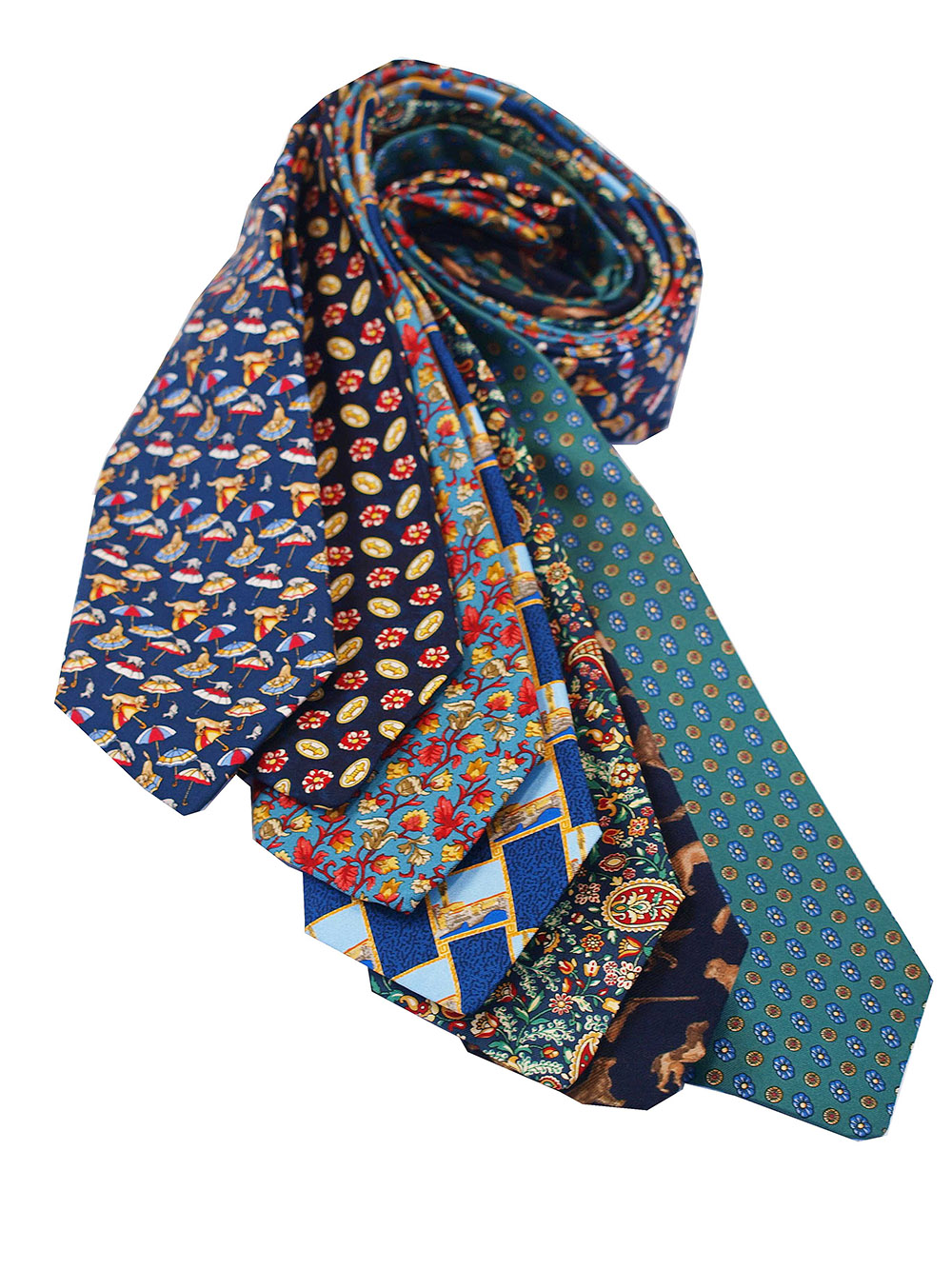 Cavenagh of London 7Piece 100% Pure Silk Ties Made in UK (239D)RRP£139.99