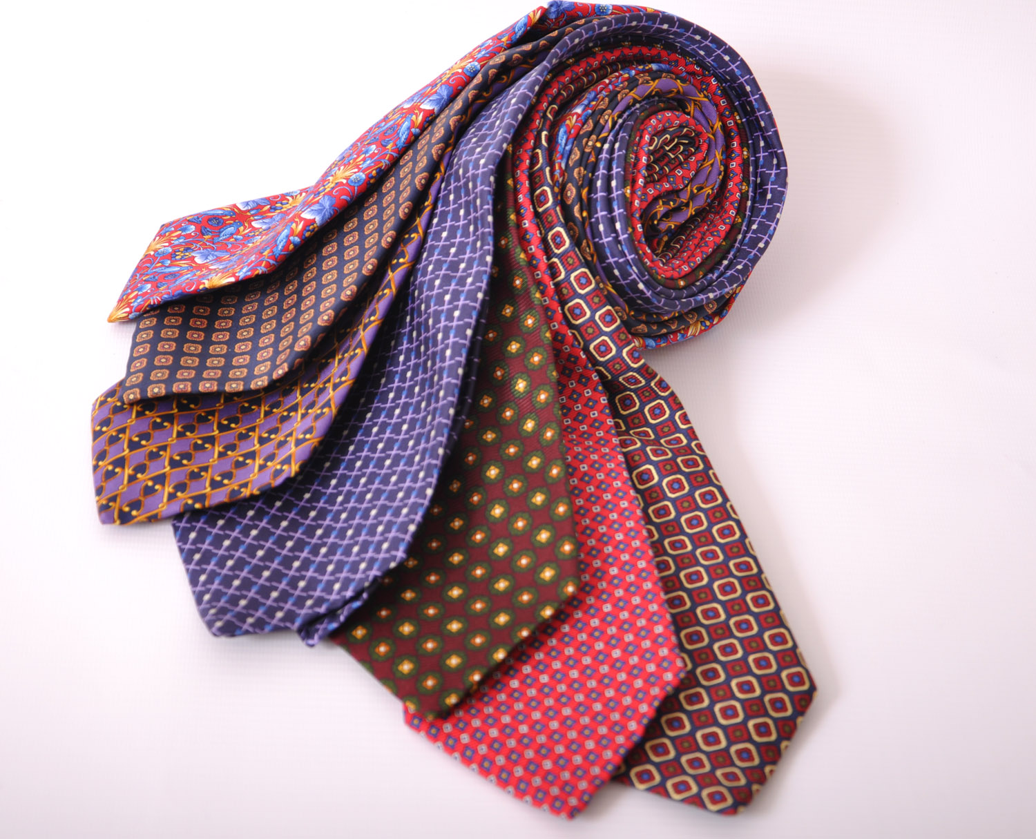 Cavenagh of London 7Piece 100% Pure Silk Ties Made in UK (325D)RRP£139.99