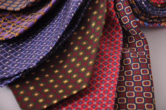 Cavenagh of London 7Piece 100% Pure Silk Ties Made in UK (325D)RRP£139.99 Thumbnail 2