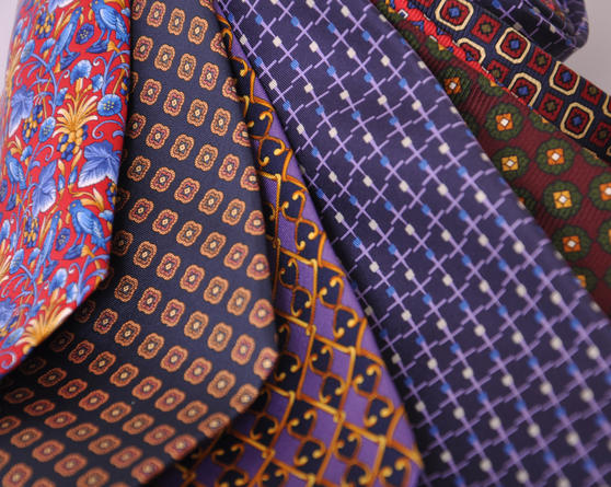 Cavenagh of London 7Piece 100% Pure Silk Ties Made in UK (325D)RRP£139.99 Thumbnail 3