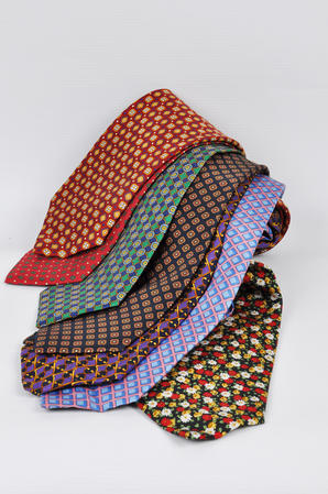 Cavenagh of London 7Piece 100% Pure Silk Ties Made in UK (521D)RRP£139.99 Thumbnail 1