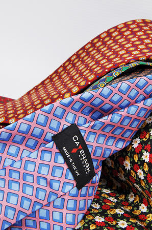 Cavenagh of London 7Piece 100% Pure Silk Ties Made in UK (521D)RRP£139.99 Thumbnail 3