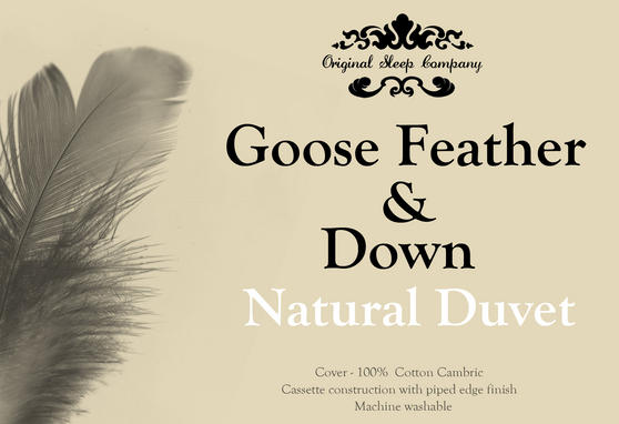 Goose Feather & Down All Seasons Duvet - 4.5 & 9 Tog Thumbnail 3