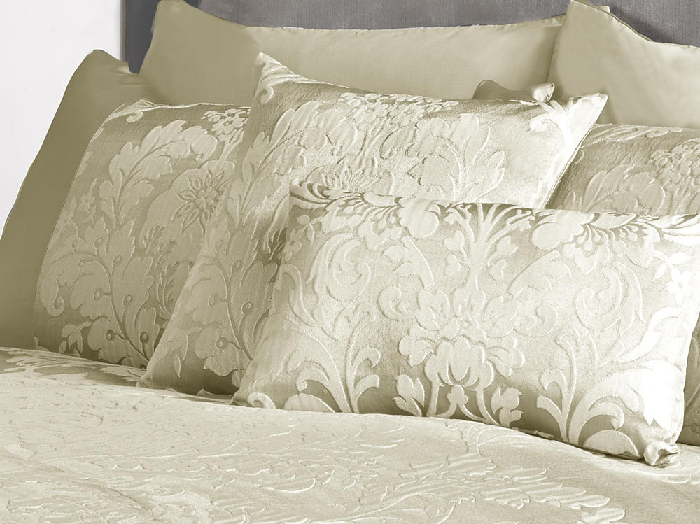Deluxe Boston Jacquard Damask Cushion Cover in Cream
