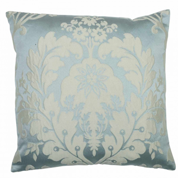 Deluxe Boston Jacquard Damask Cushion Cover In Duck Egg