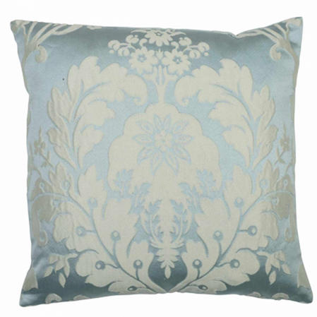 Deluxe Boston Jacquard Damask Cushion Cover in Duck Egg Blue Thumbnail 2