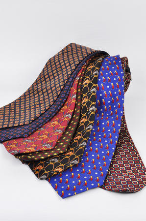 Cavenagh of London 7Piece 100% Pure Silk Ties Made in UK (422D)RRP£139.99 Thumbnail 1