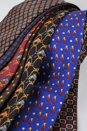 Cavenagh of London 7Piece 100% Pure Silk Ties Made in UK (422D)RRP£139.99 Thumbnail 2