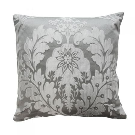Deluxe Boston Jacquard Damask Cushion in Grey Thumbnail 2