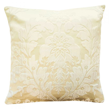Luxury Charleston Jacquard Damask Cushion Cover in Cream