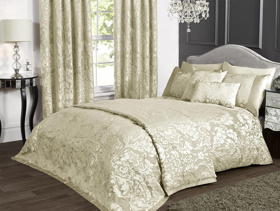Luxury Charleston Jacquard Damask Cushion Cover in Cream Thumbnail 3