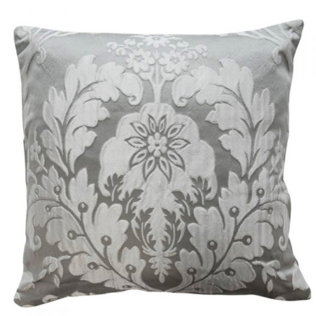 Luxury Charleston Jacquard Damask Cushion Cover in Grey