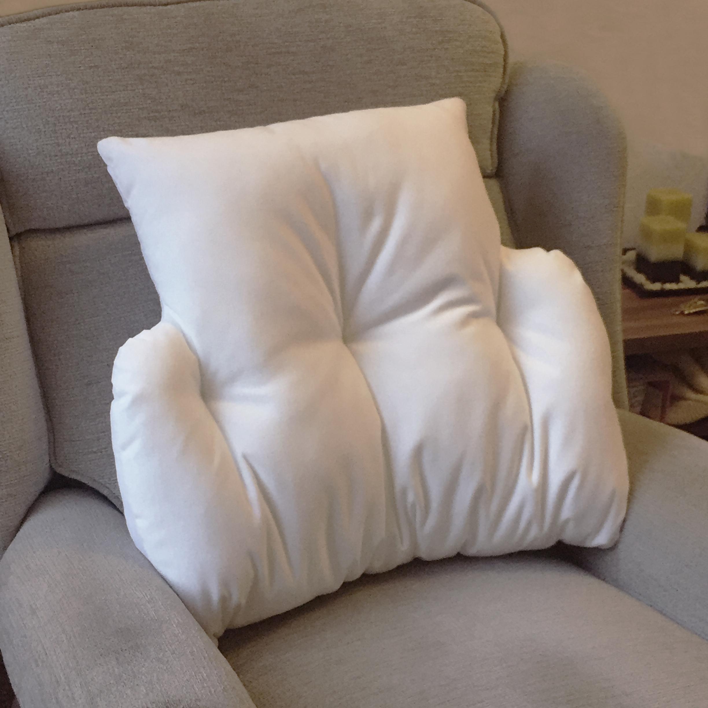 Details About Cradle Lumbar Back Support Velour Fleece Cushion Comfort Armchair Disability Aid