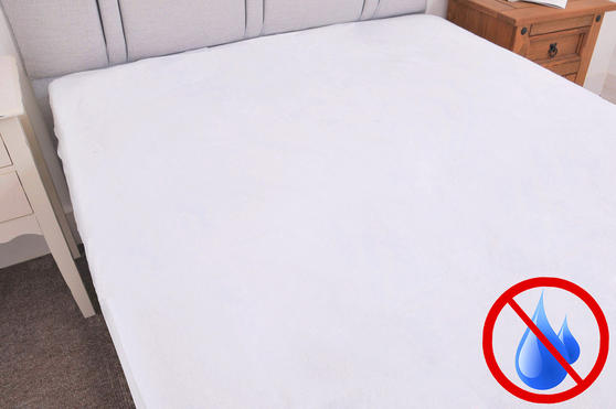 Terry Waterproof 100% Cotton Fitted Mattress Protector Thumbnail 2