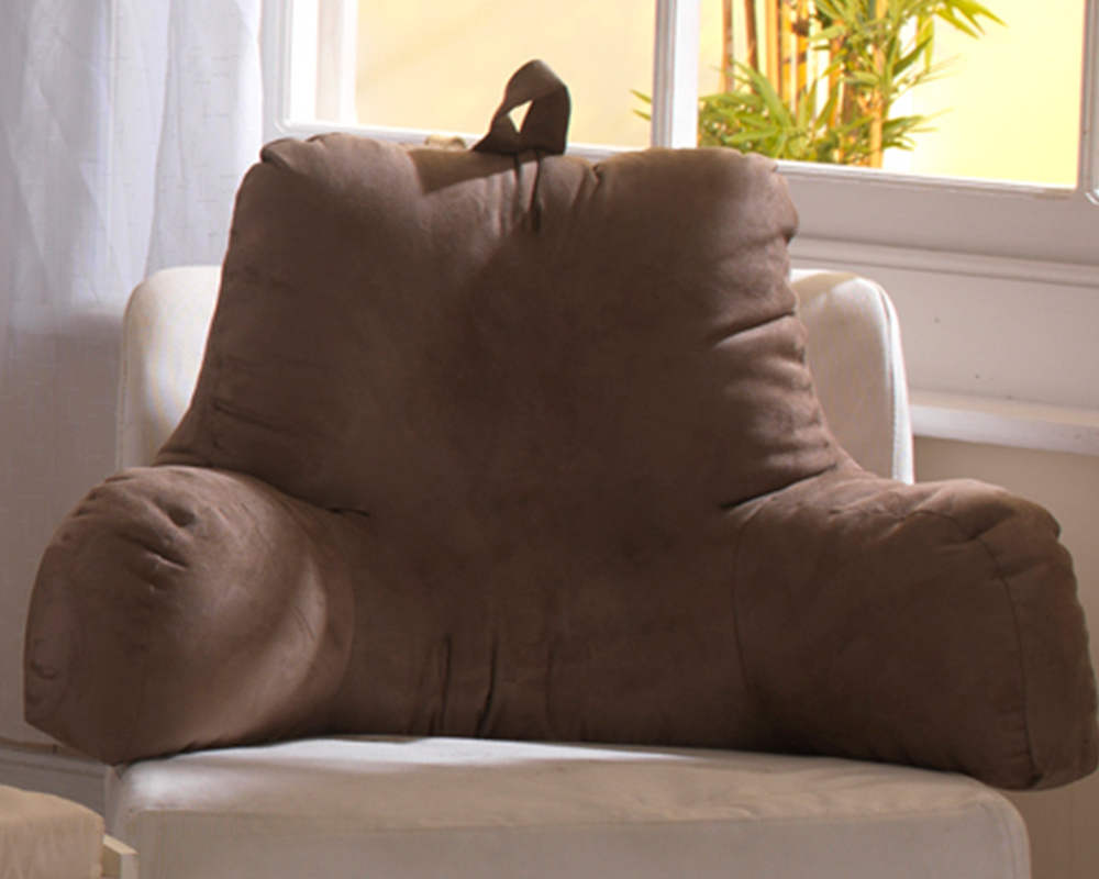 Suede Pregnancy Support Cushion with Arms