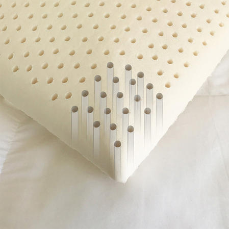 Natural Soft Bamboo Hypo Allergenic Anti Dust Mite Contoured Latex Pillow with Air flow Channels Thumbnail 2