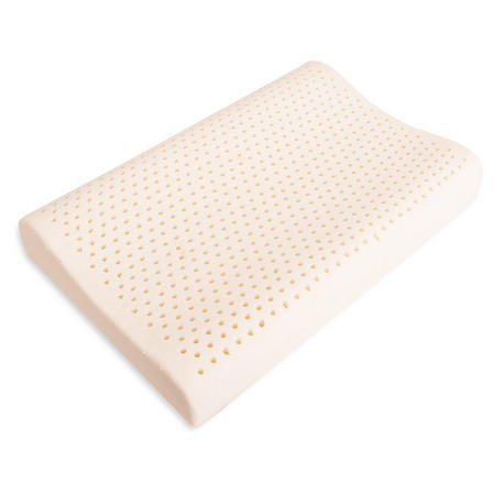 Natural Soft Bamboo Hypo Allergenic Anti Dust Mite Contoured Latex Pillow with Air flow Channels